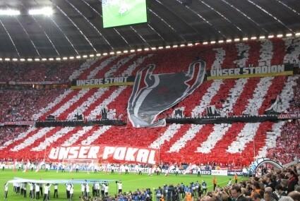 Oprawa kibiców Bayernu podczas finału LM