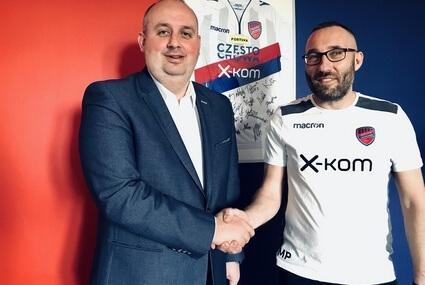 Prezes Rakowa Wojciech Cygan i trener Marek Papszu