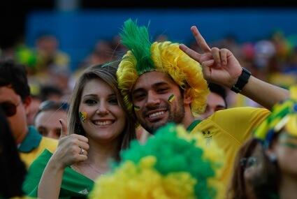 Kibice reprezentacji Brazylii