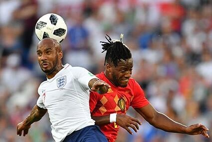 Mecz Anglia - Belgia na mundialu w Rosji