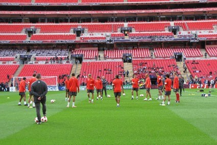 Trening Man Utd na Wembley