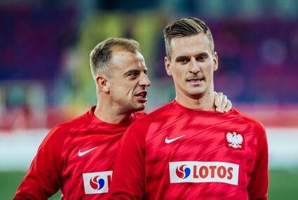 Kamil Grosicki i Arkadiusz Milik