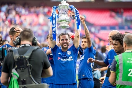 Fabregas w barwach Chelsea