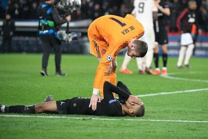 David de Gea w meczu przeciw PSG