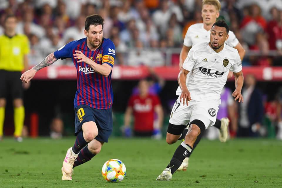 Lionel Messi przy piłce
