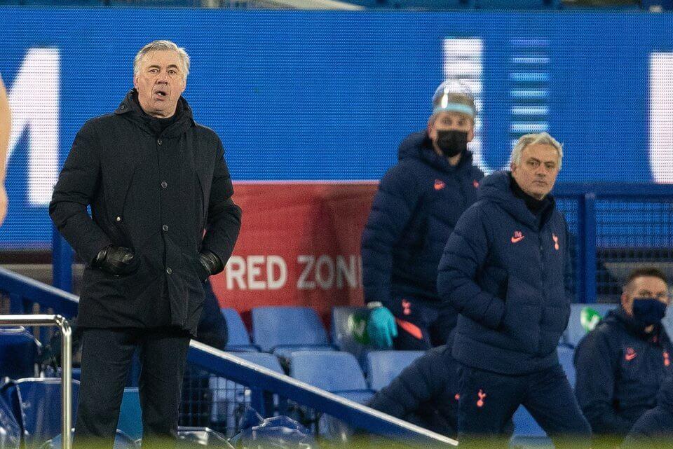 Carlo Ancelotti Jose Mourinho