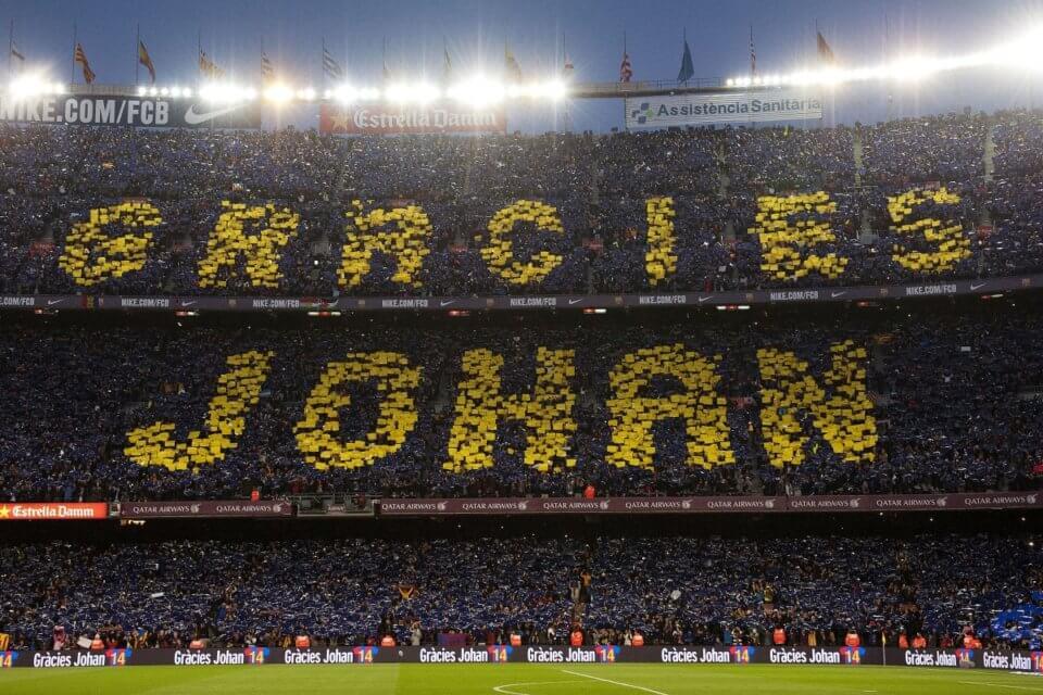 FC Barcelona dziękuje Cruyffowi