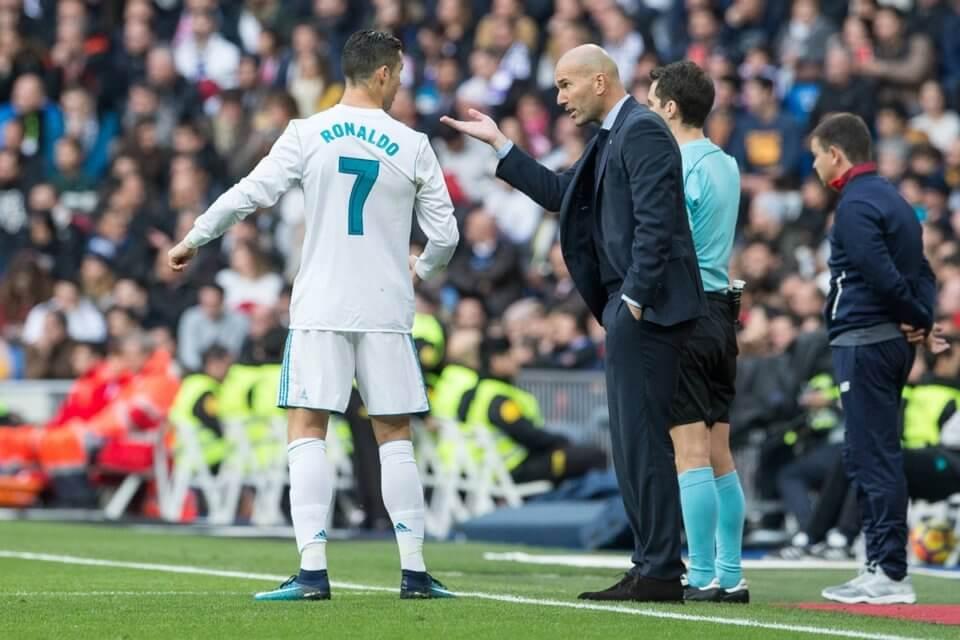 Cristiano Ronaldo i Zinedine Zidane w 2017 roku