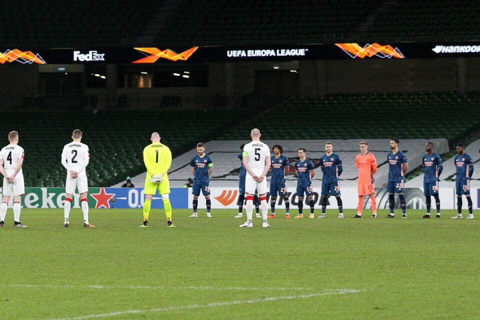 Aviva Stadium, mecz Ligi Europy między Dundalk a Arsenalem