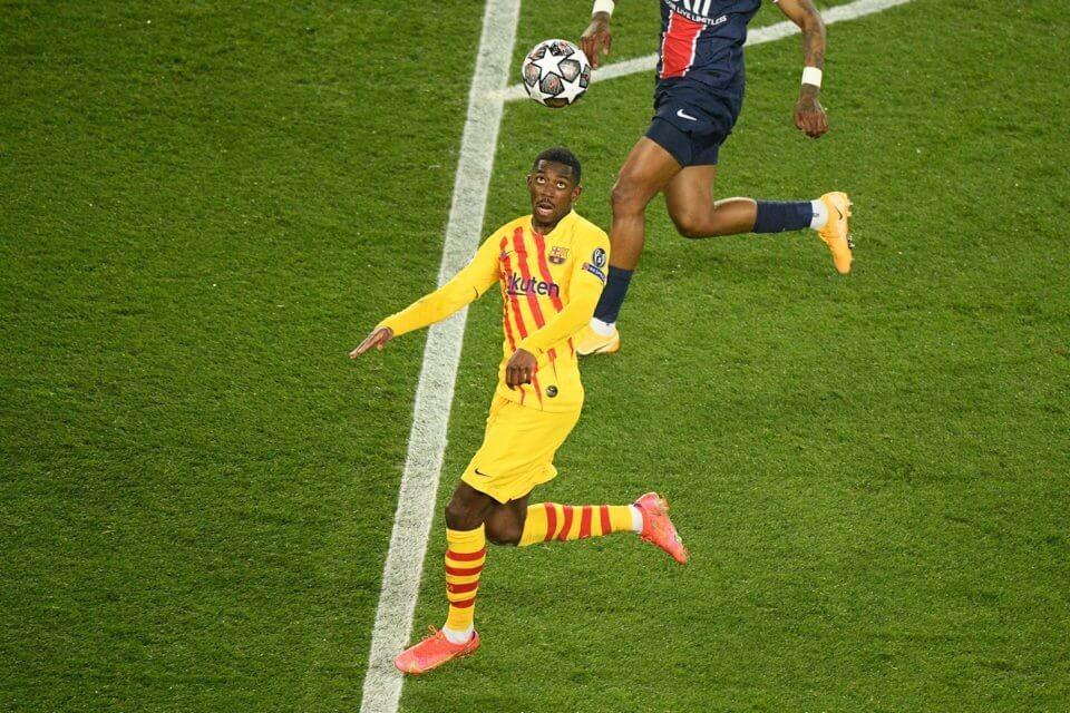 Ousmane Dembele w meczu z PSG