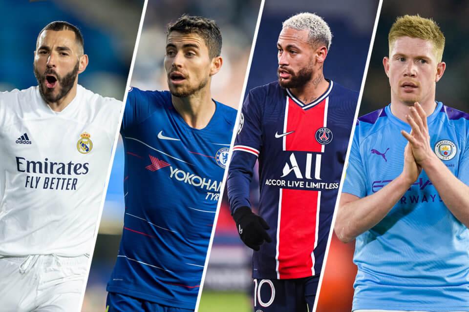 Półfinały Ligi Mistrzów - Real Madryt, Chelsea, Paris Saint-Germain, Manchester City