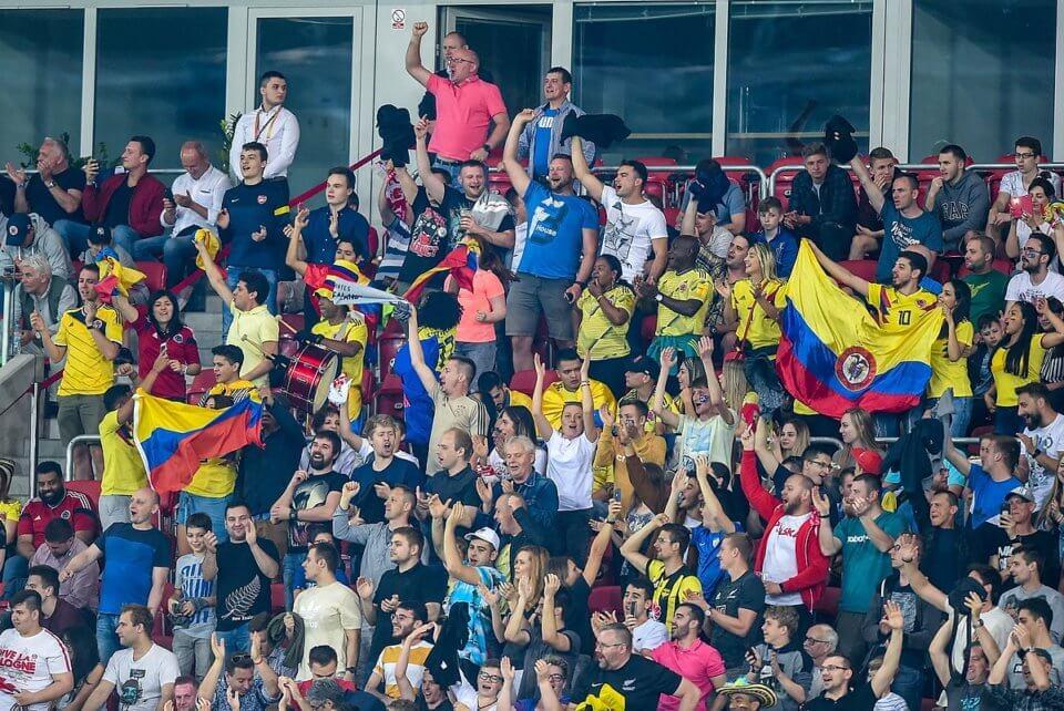 Fani reprezentacji Kolumbii
