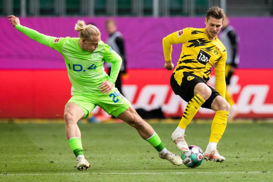 Łukasz Piszczek w meczu z VfL Wolfsburg