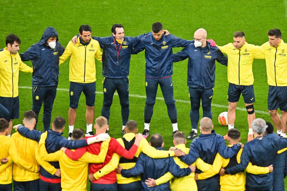 Zespół Villarrealu podczas treningu w Gdańsku