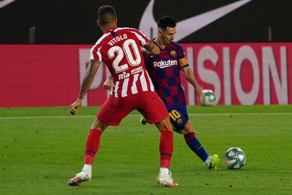 Vitolo i Leo Messi