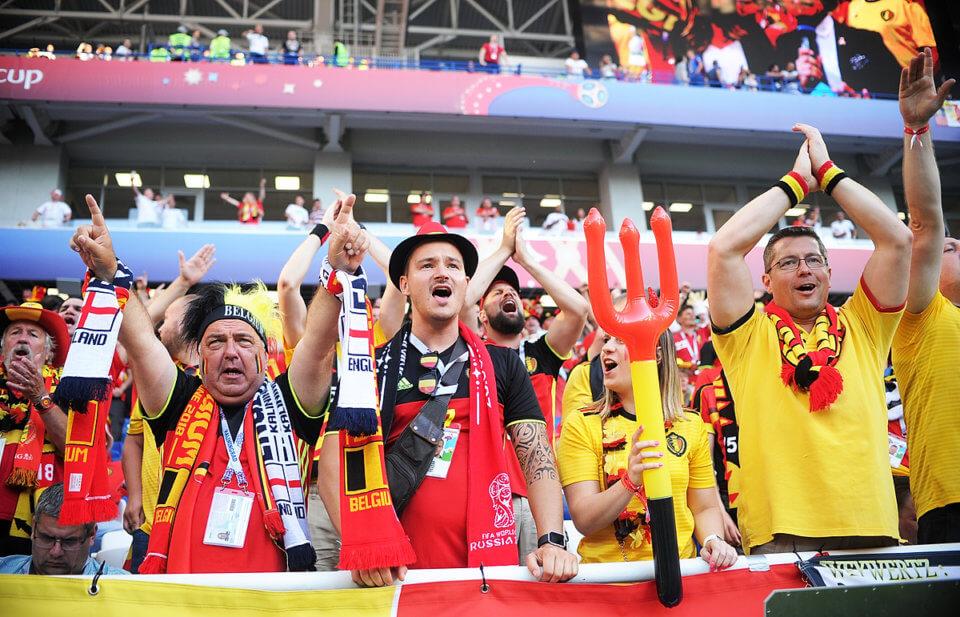Kibice reprezentacji Belgii