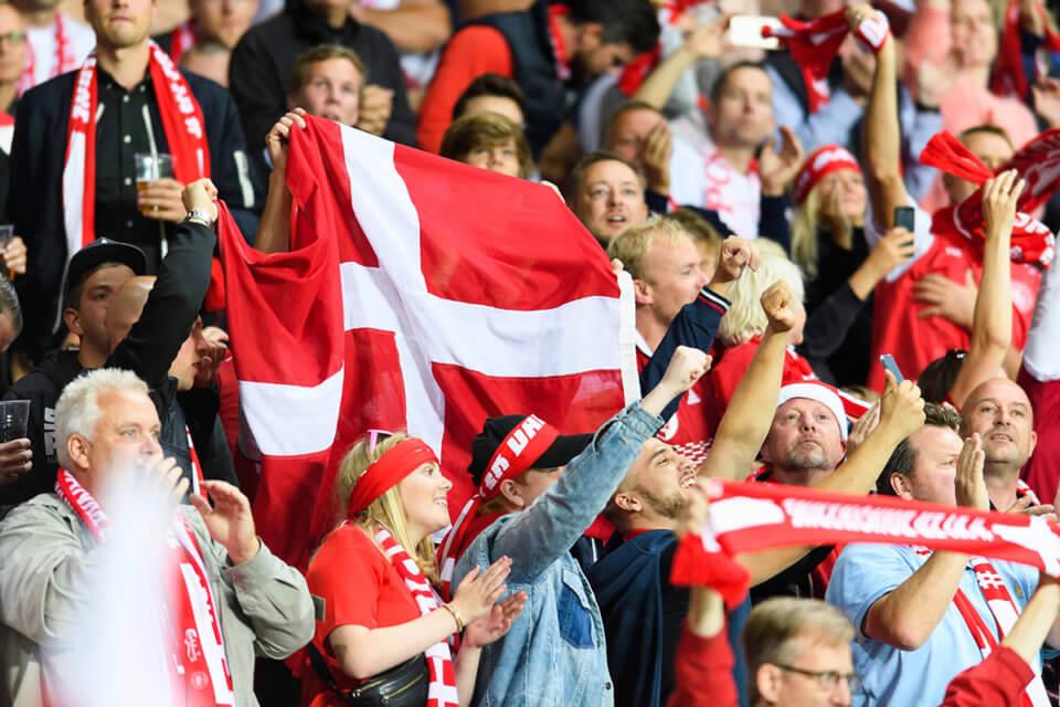 Kibice reprezentacji Danii
