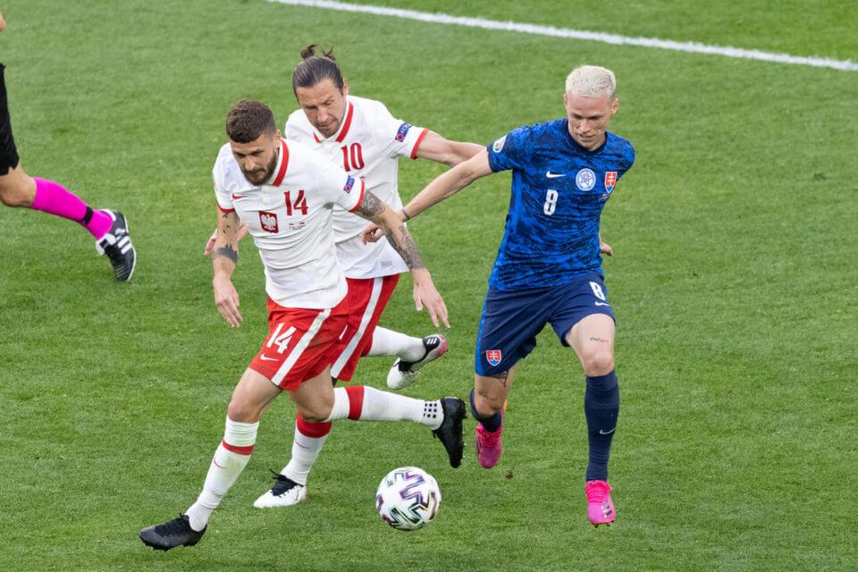 Klich i Krychowiak w meczu ze Słowacją