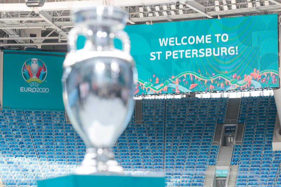 Widok na stadion w Sankt Petersburgu