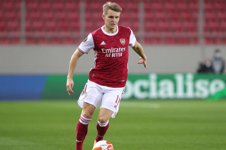 Martin Odegaard w barwach Arsenalu