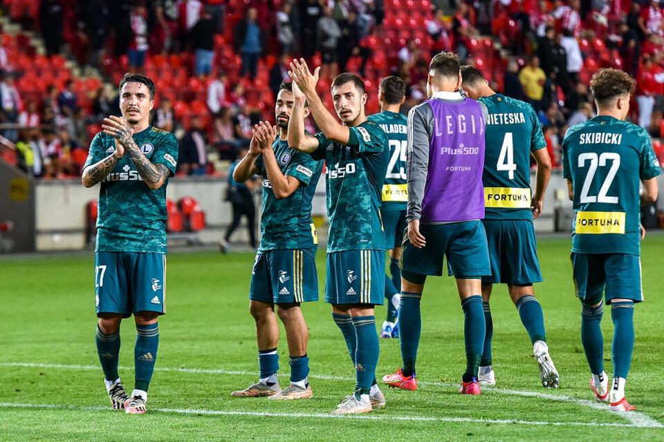 Legia Warszawa po meczu ze Slavią