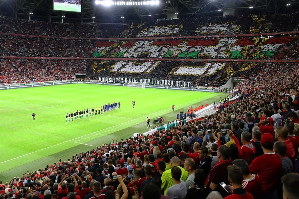 Puskas Arena podczas meczu Węgry - Anglia