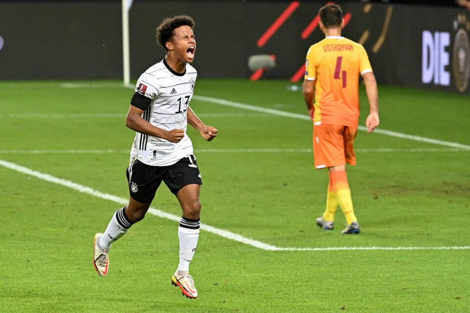 Karim Adeyemi po debiutanckim golu w reprezentacji Niemiec