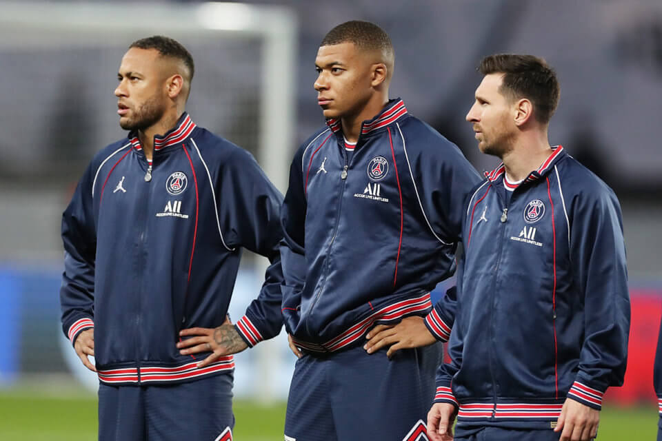 Neymar, Kylian Mbappe i Lionel Messi