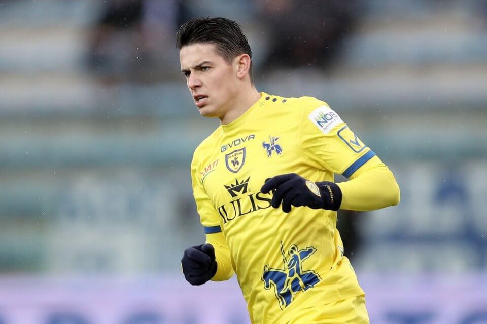 Mariusz Stępiński w barwach Chievo