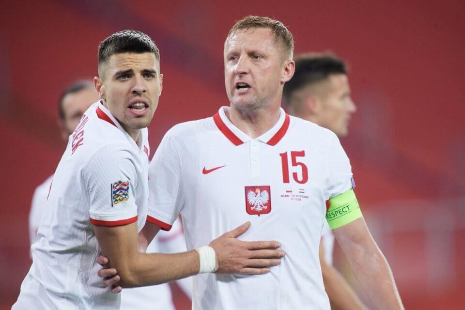 Jan Bednarek (L) i Kamil Glik