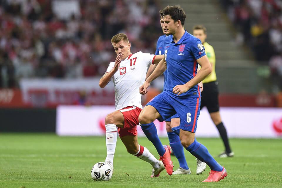 Damian Szymański w meczu z Anglią